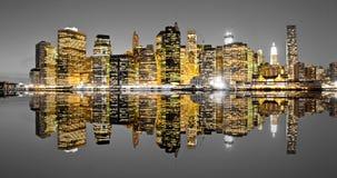 De Stad van Manhattan, New York. De V.S. Stock Foto's