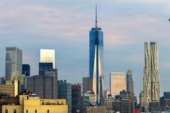 De Stad van Manhattan, New York De V.S. Stock Afbeeldingen