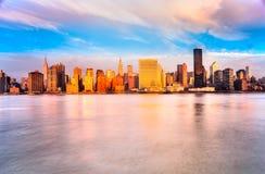 De Stad van Manhattan, New York De V.S. Royalty-vrije Stock Fotografie