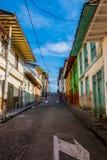 De stad van Manizales in Colombia Stock Afbeelding