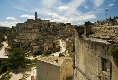 De stad van Matera Stock Foto