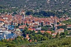 De stad van Mediterannean van Cres, Kroatië Stock Foto's