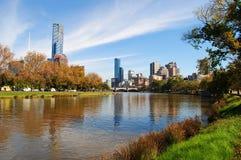 De Stad van Melbourne stock afbeeldingen