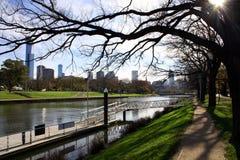 De Stad van Melbourne, Australië Stock Foto's
