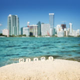 De stad van Miami, de V.S. stock foto's