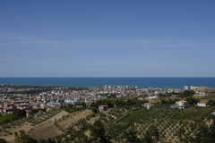 De stad van Montesilvano Royalty-vrije Stock Foto's