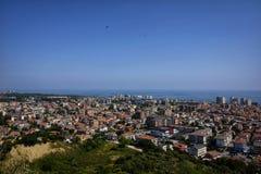 De stad van montesilvano van hierboven Stock Foto