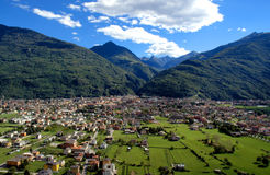 De stad van Morbegno Stock Fotografie