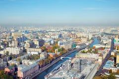 De stad van Moskou Stock Foto