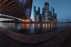 De stad van Moskou, Rusland stock afbeelding