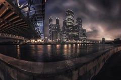 De stad van Moskou, Rusland stock foto's