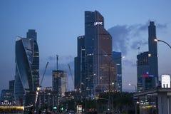 De Stad van Moskou vibes stock afbeeldingen