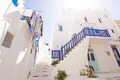 De Stad van Mykonos Stock Foto's