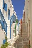 De Stad van Mykonos Stock Afbeeldingen