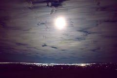 De stad van de nacht E stock afbeeldingen