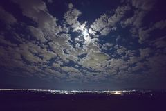 De stad van de nacht E stock fotografie