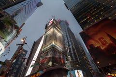 De Stad van nachtnew york stock foto's
