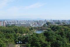 De stad van Nagoya van het kasteel van Nagoya Stock Foto's