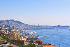 De stad van Napels op het Ionische Overzees Royalty-vrije Stock Afbeelding