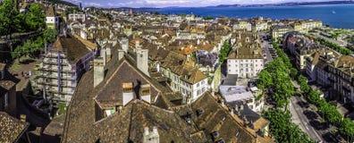 De stad van Neuchâtel Stock Foto's