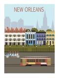 De stad van New Orleans. Stock Afbeelding