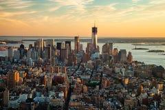 De STAD van NEW YORK - Één World Trade Center Stock Fotografie