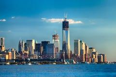 De STAD van NEW YORK - Één World Trade Center Stock Afbeeldingen
