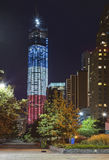 DE STAD VAN NEW YORK - 16 SEPTEMBER: Één World Trade Center Royalty-vrije Stock Afbeelding
