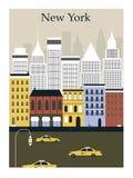 De stad van New York. Royalty-vrije Stock Foto