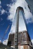 DE STAD VAN NEW YORK - 3 OKTOBER: Één World Trade Center Royalty-vrije Stock Afbeeldingen