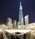 DE STAD VAN NEW YORK - 17 APRIL: Het Gedenkteken van NYC ` s 9/11 bij Wereldhandelcen Royalty-vrije Stock Afbeeldingen