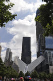 De Stad van New York, 2 Augustus: Maalde Nul Gedenkteken in Manhattan van de Stad van New York Royalty-vrije Stock Afbeeldingen