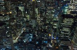 De Stad van New York bij Nacht Royalty-vrije Stock Afbeelding