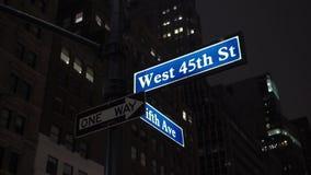 De Stad van New York bij Nacht stock footage