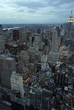 De stad van New York bij schemer Royalty-vrije Stock Foto