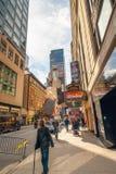 De Stad van New York De Bouw van Paramount, 1501 Broadway, tussen het Westen drie?nveertigste en vierenveertigste Straten wordt g royalty-vrije stock foto's