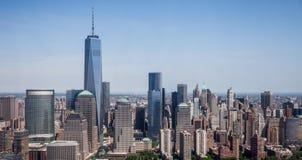 De Stad van New York - de de Hemelmening Van de binnenstad van Manhattan Royalty-vrije Stock Foto