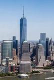 De Stad van New York - de de Hemelmening Van de binnenstad van Manhattan royalty-vrije stock afbeelding