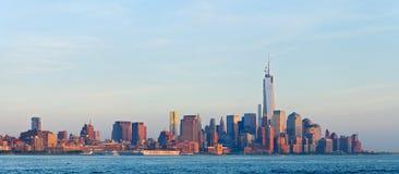 De Stad van New York, de gebouwenmening van Manhattan Royalty-vrije Stock Afbeeldingen