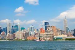 De Stad van New York, de gebouwenmening van Manhattan Stock Afbeelding