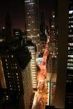 De Stad van New York in de nacht Royalty-vrije Stock Afbeelding