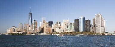De stad van New York de stad in Royalty-vrije Stock Afbeeldingen
