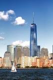 De stad van New York de stad in Stock Foto