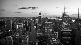 De Stad van New York - de Uit het stadscentrum Mening van Manhattan stock fotografie