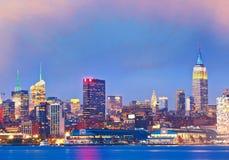 De Stad van New York, de V De gebouwen van de binnenstad in Manhattan Royalty-vrije Stock Foto's
