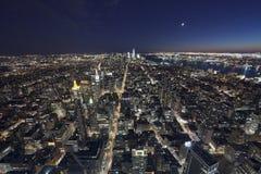 De STAD van NEW YORK, de V.S. - het panorama van New York Royalty-vrije Stock Afbeeldingen