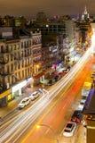 DE STAD VAN NEW YORK - 31 DECEMBER: Verkeerslichten omhoog de straten in CH Stock Foto's