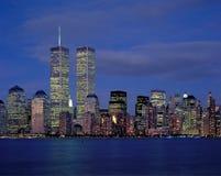 De stad van New York en Wereldhandel stock foto