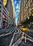 De Stad van New York in HDR. Stock Afbeelding