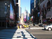 De Stad van New York, het Times Square van New York, de V.S. in uit het stadscentrum Manhattan 1 Stock Fotografie